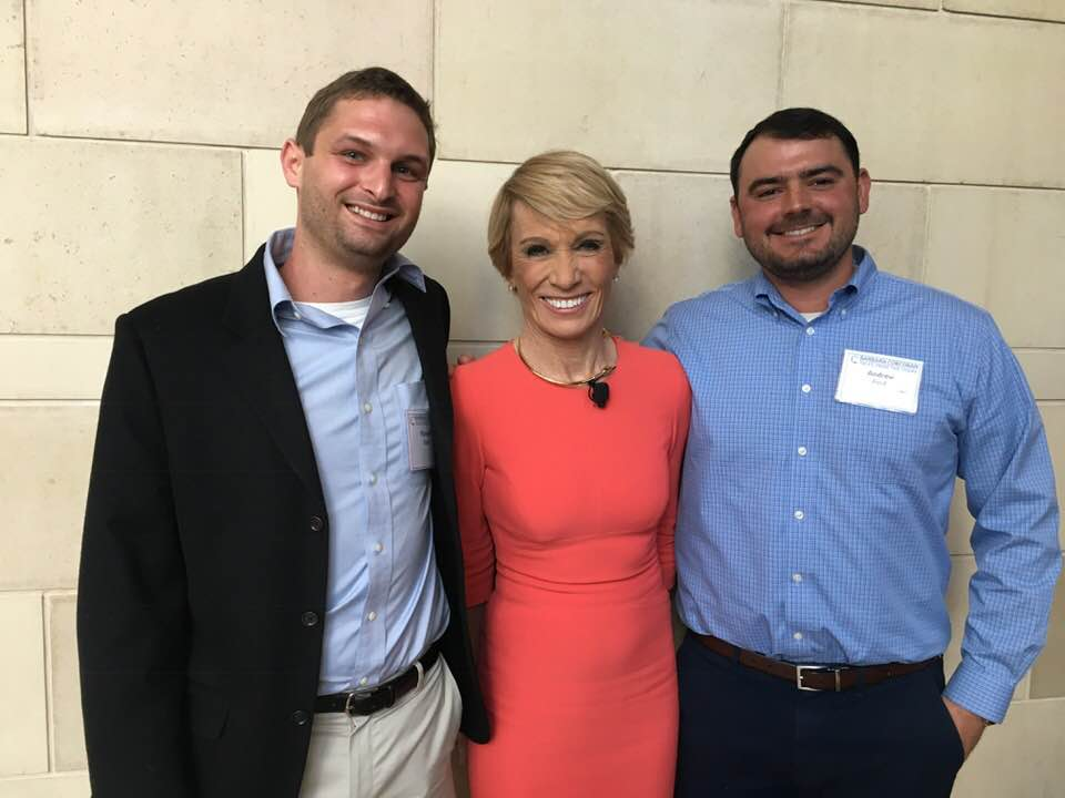 Sophisticated Properties Founders with Barbara Corcoran of Shark Tank Fame.